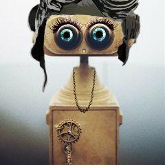 remixoftheday steampunk lashes robot binocular freetoedit