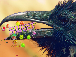 freetoedit dailysticker sweet raven candy