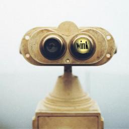 freetoedit binocular binocularremix wink robot