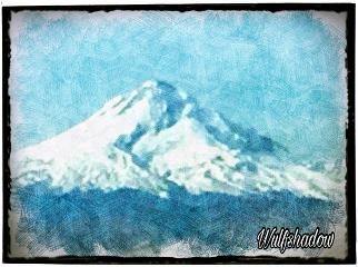 oregon snow mountains myphotoedited