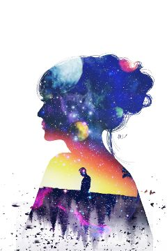 freetoedit yesi_502 doubleexposure girls galaxy