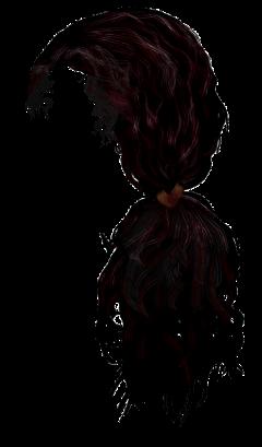 brown hair curly wavy ponytail freetoedit