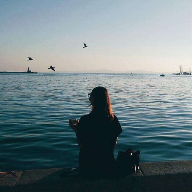 i just love a nice sunny day off of work #sea #blue #mediterranean #sky #birds #coffeetime #sunshine #photography #split #dalmatia #croatia #sunnydays #autumn #beautiful