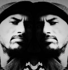 me blackandwhite edit mirror face