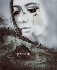 freetoedit doubleexposure editedbyme sadness tears