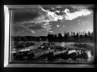 freetoedit blackandwhite windowview sky marina