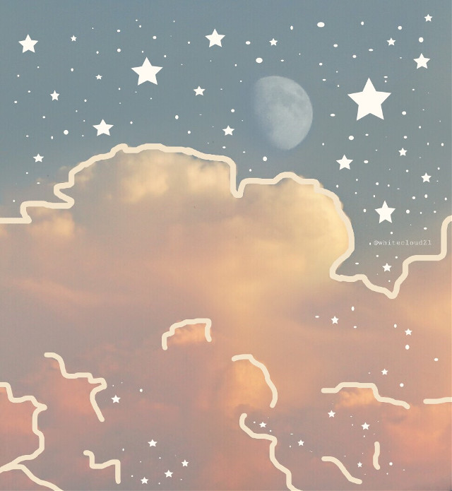 #freetoedit #clouds #sky #photography #moon #stars #drawing #drawingbyme #myedit #line