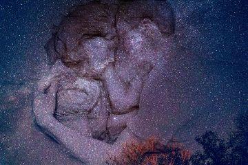 edited doubleexposure meteorshower goodnight couple freetoedit