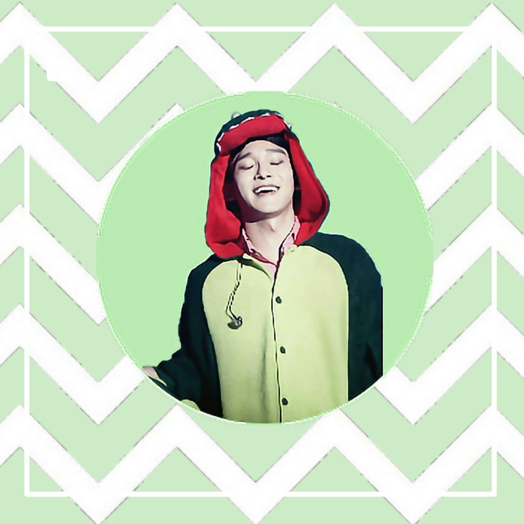Exo Chen Kim Jongdae Wallpaper Green White Lines