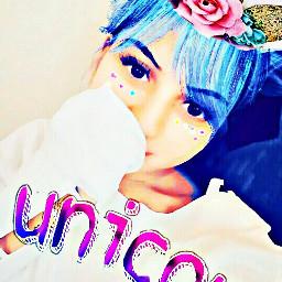 freetoedit unicorn flower unicornselfie