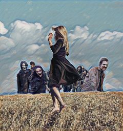 freetoedit thewalkingdead walkingdead field dance