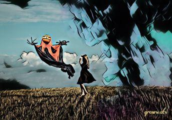 emotionsremix freetoedit girl barefoot monster