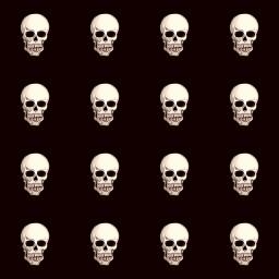 freetoedit skull skeleton halloween halloweenart