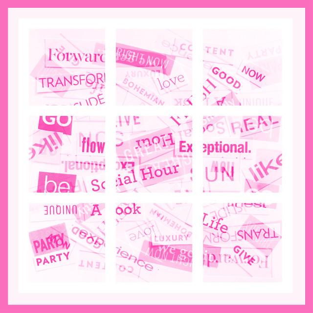 #freetoedit #wordcollage #collage #squares #funwords #pink #pinks #shadesofpink