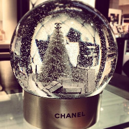 freetoedit chanel snowglobe christmasfashion