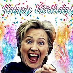 freetoedit birthday happybirthday 🎂 hillaryclinton
