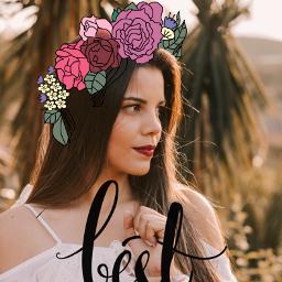 freetoedit girl flowers headband quotes