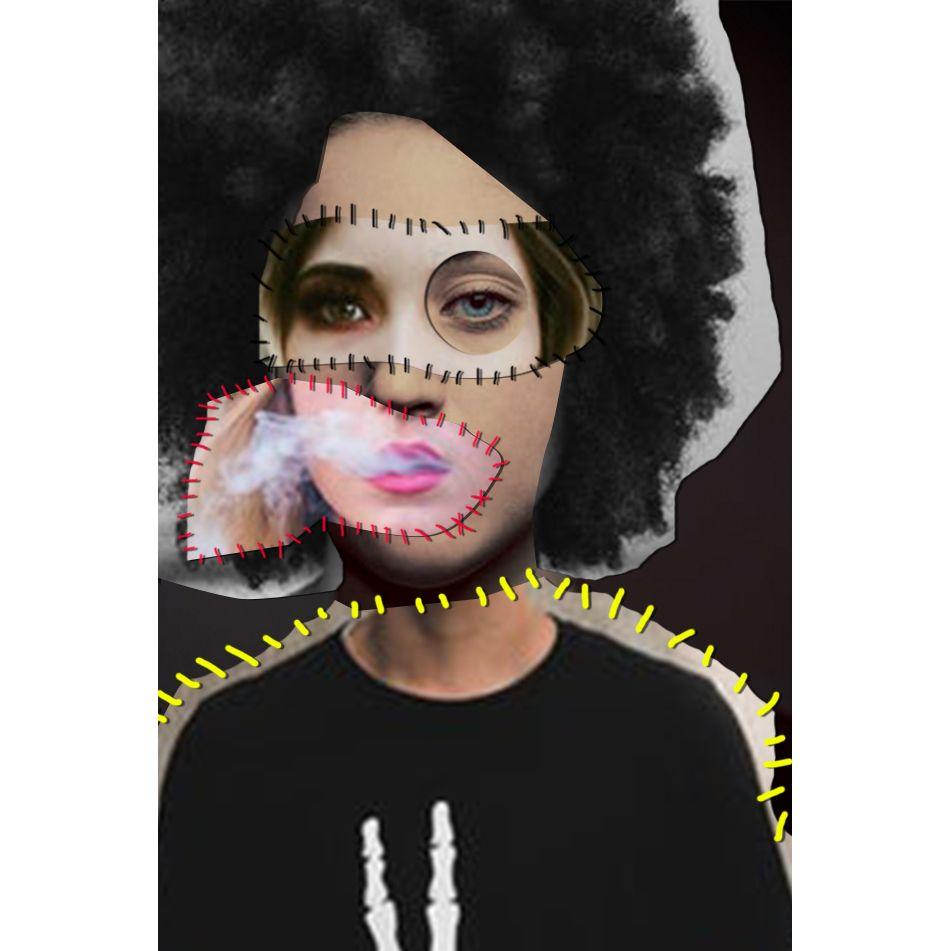 #face #puzzle #girl #design #sew #cutouts