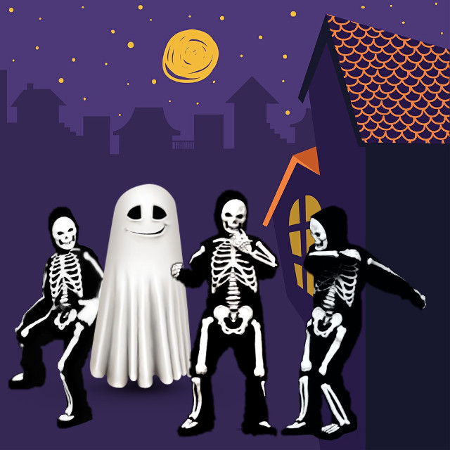 #madewithpicsart Background from @pa #dailystickerremix #sticker #ghost #cute #skeletons #dancingskeletons #trickortreat