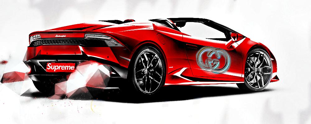 Lamborghini Red Italy Supreme Gucci Italy Interesting