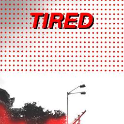 freetoedit tired red comic popart