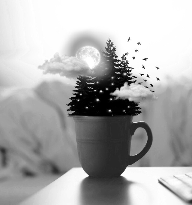 #freetoedit A forest included in a cup of tea. I hope u like it.