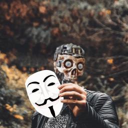 freetoedit remixit dailysticker mask man ftestickers