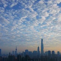 shanghai shanghaitower shanghaisunrise sunrise clouds