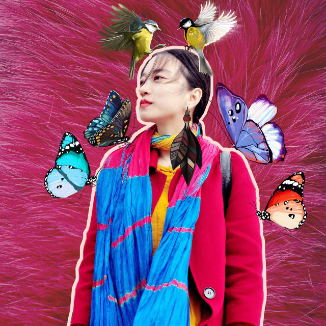 #freetoedit #remixed #dailyremix #sticker #birds #style #butterflies #fashion #colors #colorfull