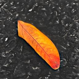 freetoedit leaf fallenleaf brightcolor colorsplash