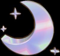 moon holographic aesthetic freetoedit