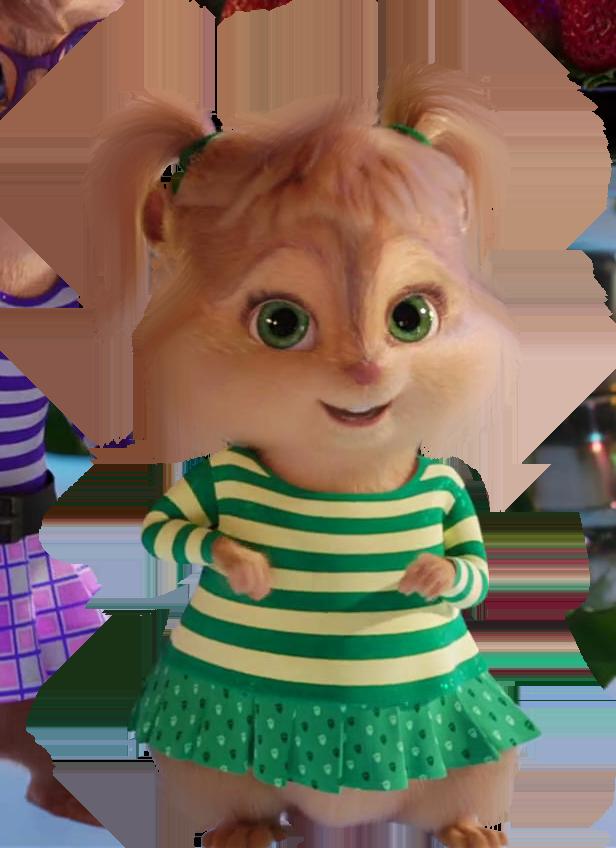 Chipette Smiling Cute Eleanor Eleanormiller Green