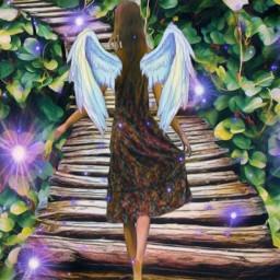 freetoedit angel angelwings path pathtolight