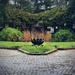 photography fountain sculpture cobblestone grass freetoedit