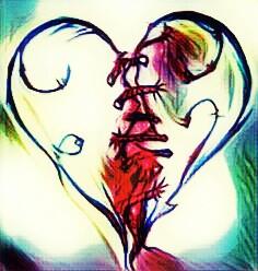 broken love colorsplash heartbreak hearts freetoedit