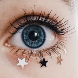 freetoedit blue eyes stars blueeyes