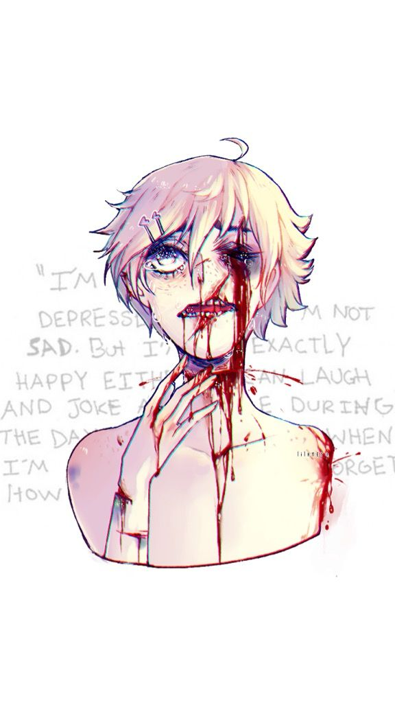 Freetoedit Anime Sad Tumblr Wallpaper Blood
