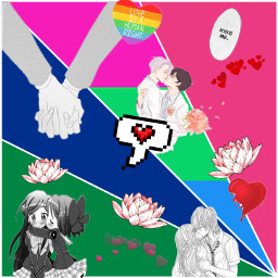 lgbt polysexual poly polyromantic love freetoedit