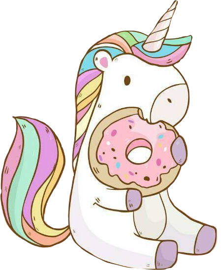 unicorn donut kawaii rainbowfreetoedit