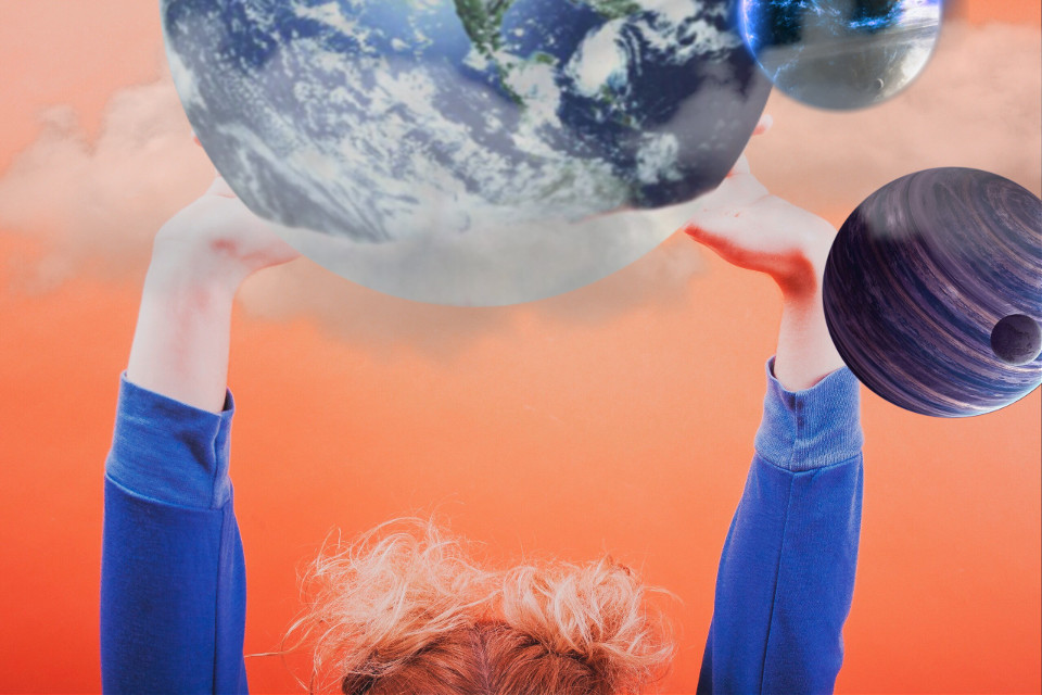#freetoedit #planet #earth #hands #hair