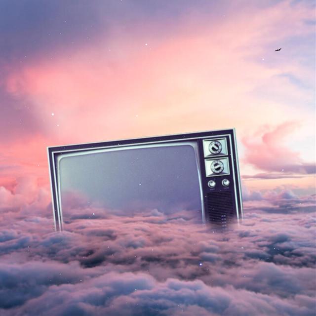 Watching clouds  #edit #simple #clouds #sky #tv
