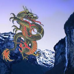 freetoedit dragon montain blue