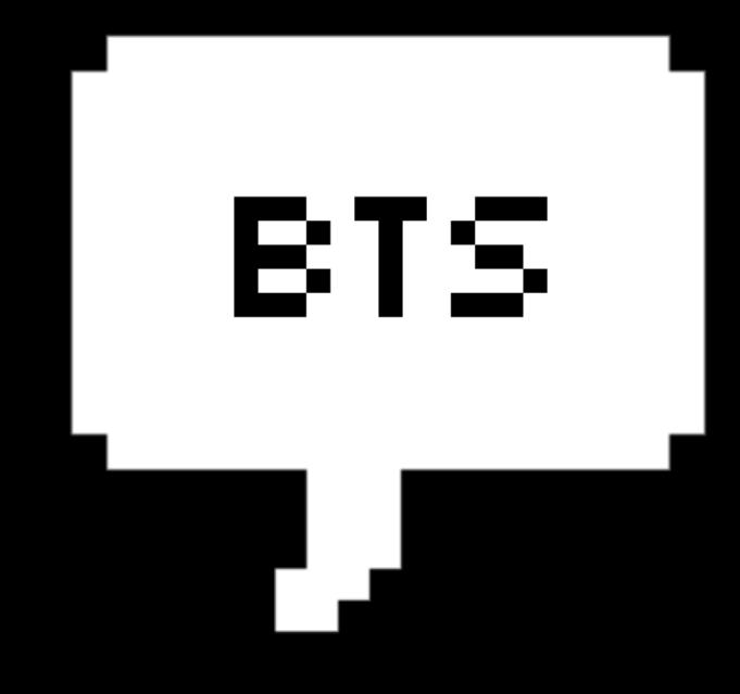 Bts Bangtanboys Btsbubble Speechbubble Pixel Pixelbubbl