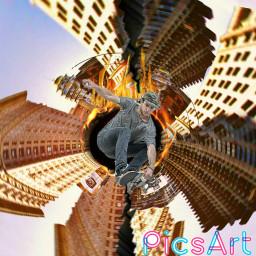 skateboarding skateboardingremix madewithpicsart blackhole ringoffire freetoedit