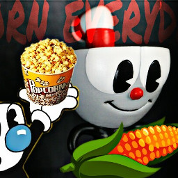 freetoedit cuphead corn everyday