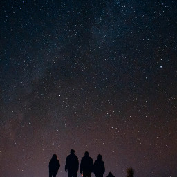 freetoedit galaxy dots people silhouettes