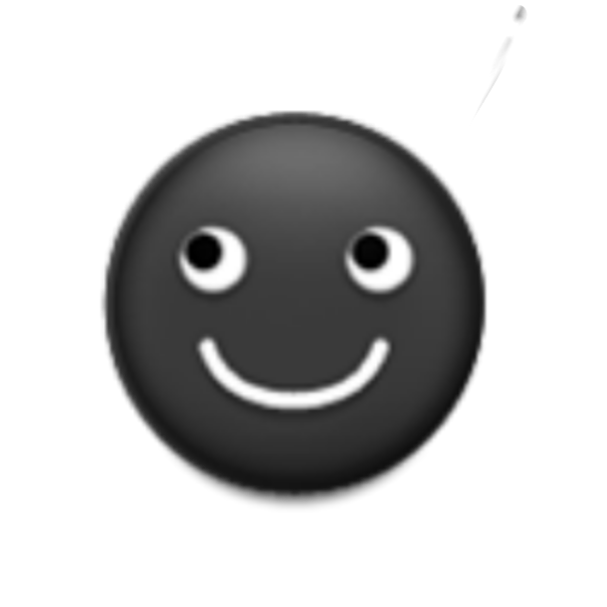 black moon emoji face sticker by