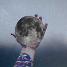 freetoedit interesting moon hand space