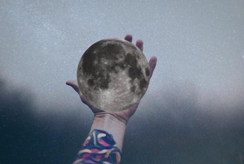 #freetoedit #interesting #moon #hand #space