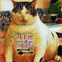 freetoedit fat cat wobble gobble